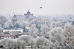 Frost covering Romsey Abbey and the surrounding area by Natasha Weyers