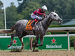 August 07, 2021: Stellar Tap #7, ridden by jockey Ricardo Santana Jr. wins a maiden special weight giving trainer Steve Asmussen win number 9,446 making him North America's all-time leading trainer by wins at Saratoga Race Course in Saratoga Springs, N.Y. on August 7, 2021. Rob Simmons/Eclipse Sportswire/CSM