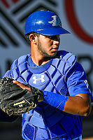 Keibert Ruiz (31) of the Ogden Raptors before the game against the Missoula Osprey in Pioneer League action at Lindquist Field on July 14, 2016 in Ogden, Utah. Ogden defeated Missoula 10-4. (Stephen Smith/Four Seam Images)