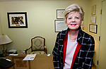 MIDDLEBURY, CT-122618JS33- Dr. Paula Moynahan in her offices in Middlebury on Wednesday. A growing number of American men are having cosmetic surgery to improve their looks and increase their confidence. <br /> Jim Shannon Republican American