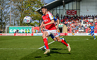Ashley Nadesan of Fleetwood Town during the Sky Bet League 1 match between Fleetwood Town and Peterborough at Highbury Stadium, Fleetwood, England on 19 April 2019. Photo by Stefan Willoughby.