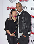 "Rapper T.I. and wife Tiny attends The World Premiere of Marvel's ""Avengers"" Age of Ultron,"" held at The Dolby Theatre in Hollywood, California on April 13,2015                                                                               © 2014 Hollywood Press Agency"