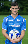 New St Johnstone signing Graham Cummins pictured wearing the new home strip for the 2015-16 season...<br /> Picture by Graeme Hart.<br /> Copyright Perthshire Picture Agency<br /> Tel: 01738 623350  Mobile: 07990 594431