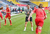 Belgian physical coach Cedric Lehance pictured during a friendly female soccer game between the national teams of Germany and  Belgium , called the Red Flames  in a pre - bid tournament called Three Nations One Goal with the national teams from Belgium , The Netherlands and Germany towards a bid for the hosting of the 2027 FIFA Women's World Cup , on Sunday 21 st of February 2021  in Aachen , Germany . PHOTO SPORTPIX.BE   SPP   STIJN AUDOOREN