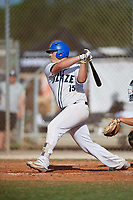 Caleb Cassie  (15) during the WWBA World Championship at the Roger Dean Complex on October 13, 2019 in Jupiter, Florida.  Caleb Cassie is from Surrey, BC, Canada and is uncommitted.  (Mike Janes/Four Seam Images)