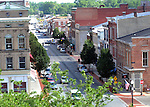 Fort Piqua Plaza and downtown Piqua from the roof of the Unity National Bank Administration Building.