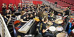 February 24, 2017- Normal, IL- The TCHS Pep Band performs during the 1A/2A IHSA Girls Basketball State Finals. [Photo: Douglas Cottle]