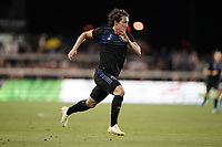 SAN JOSE, CA - SEPTEMBER 25: Carlos Fierro #21 of the San Jose Earthquakes during a Major League Soccer (MLS) match between the San Jose Earthquakes and the Philadelphia Union on September 25, 2019 at Avaya Stadium in San Jose, California.