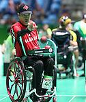 Marco Dispaltro, Rio 2016 - Boccia.<br /> Marco Dispaltro competes in the mixed boccia event against Brazil // Marco Dispaltro participe à l'épreuve de boccia mixte contre le Brésil. 09/09/2016.