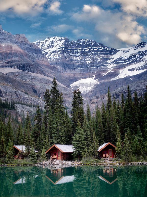 Cabins at Lake O'hara. Yoho National Park, Opabin Plateau, British Columbia, Canada