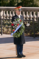 Honor Guard at the Tomb of the Unknowns (Tomb of the Unknown Soldier) in Arlington National Cemetery
