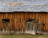 Old barn detail on a farm in Lake County, OR