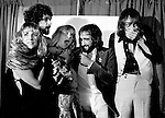 Fleetwood Mac 1977 at LA Rock Awards. Stevie Nicks, Lindsey Buckingham, Christine McVie, John McVie and Mick Fleetwood.© Chris Walter.