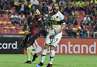 IBAGUE - COLOMBIA, 24-04-2019: Dario Benedetto del Boca celebra después de anotar el segundo gol de su equipo durante partido por la ronda 4, grupo G, de la Copa CONMEBOL Libertadores 2019 entre Deportes Tolima de Colombia y Boca Juniors de Argentina jugado en el estadio Manuel Murillo Toro de la ciudad de Ibagué. / Dario Benedetto of Boca celebrates after scoring the second goal of his team during as part of round 4, group G, of Copa CONMEBOL Libertadores 2019 between Deportes Tolima of Colombia and Boca Juniors of Argentina played at Manuel Murillo Toro stadium in Ibague city. Photo: VizzorImage / Alejandro Rosales / Cont