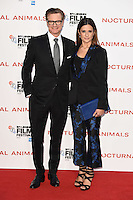 """Colin and Livia Firth<br /> at the London Film Festival 2016 premiere of """"Nocturnal Animals"""" at the Odeon Leicester Square, London.<br /> <br /> <br /> ©Ash Knotek  D3179  14/10/2016"""