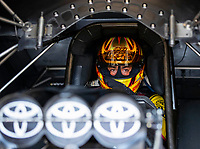 May 4, 2018; Commerce, GA, USA; NHRA funny car driver J.R. Todd during qualifying for the Southern Nationals at Atlanta Dragway. Mandatory Credit: Mark J. Rebilas-USA TODAY Sports