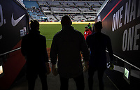 JACKSONVILLE, FL - NOVEMBER 10: USWNT walk out in the tunnel during a game between Costa Rica and USWNT at TIAA Bank Field on November 10, 2019 in Jacksonville, Florida.
