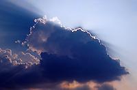A 'God cloud' formation.