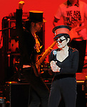 Yoko Ono  performs with We are Plastic Ono Band on night 2 at The Orpheum Theatre in Downtown Los Angeles, California on October 02,2010                                                                   Copyright 2010  Debbie VanStory / RockinExposures