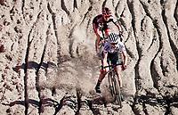 Line Burquier (FRA/A.S. Bike Crossteam) in the infamous Zonhoven 'Pit'<br /> <br /> Elite Women's Race<br /> 2021 UCI cyclo-cross World Cup - Zonhoven (BEL)<br /> <br /> ©kramon