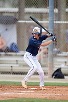 Reid Robertson (11) during the WWBA World Championship at the Roger Dean Complex on October 10, 2019 in Jupiter, Florida.  Reid Robertson attends Pope High School in Marietta, GA and is committed to Dallas Baptist.  (Mike Janes/Four Seam Images)