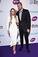 LONDON, UK. June 28, 2019: Caroline Wozniacki & David Lee arriving for the WTA Summer Party 2019 at the Jumeirah Carlton Tower Hotel, London.<br /> Picture: Steve Vas/Featureflash