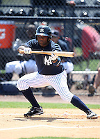 March 31, 2010:  Abraham Almonte of the New York Yankees organization during Spring Training at Yankees Training Complex in Tampa, FL.  Photo By Mike Janes/Four Seam Images
