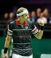 Rotterdam, The Netherlands, Februari 9, 2016,  ABNAMROWTT, Gilles Muller (LUX)<br /> Photo: Tennisimages/Henk Koster