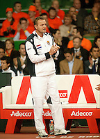 10-2-06, Netherlands, tennis, Amsterdam, Daviscup.Netherlands Russia, Dutch captain Tjerk Bogtstra