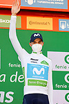 Enric Mas (ESP) Movistar Team retains the ypung riders White Jersey at the end of Stage 9 of the Vuelta Espana 2020, running 157.7km from B.M. Cid Campeador. Castrillo del Val to Aguilar de Campo, Spain. 29th October 2020.    <br /> Picture: Luis Angel Gomez/PhotoSportGomez | Cyclefile<br /> <br /> All photos usage must carry mandatory copyright credit (© Cyclefile | Luis Angel Gomez/PhotoSportGomez)