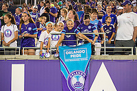 Orlando, Florida - Sunday, May 14, 2016: Fans during a National Women's Soccer League match between Orlando Pride and New York Flash at Camping World Stadium.