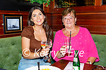Enjoying the evening at the re opening of the Mall Tavern on Thursday, l to r: Rachel and Betty Kennedy.