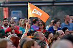 Center-right party Ciudadanos supporters during the partys final campaign meeting on Isabel II Square in Madrid ahead of the June 26 general election. June 24,2015. (ALTERPHOTOS/Acero)