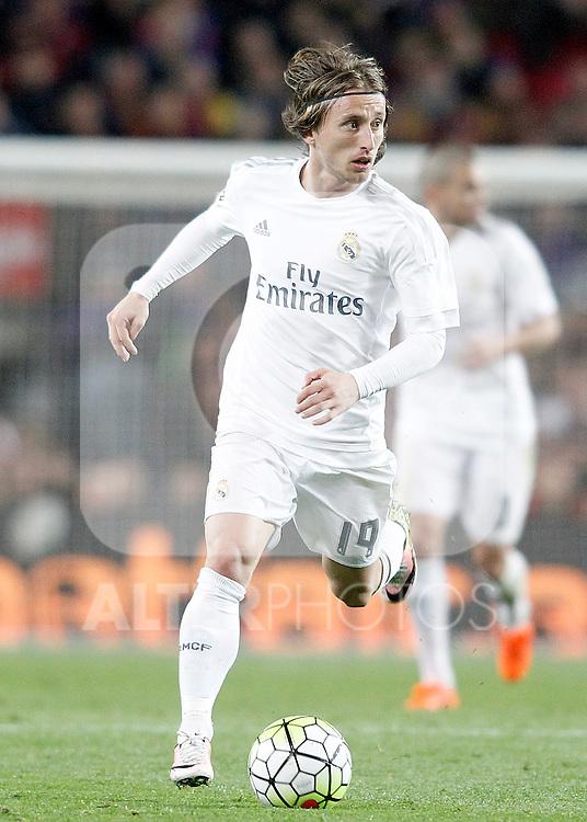 Real Madrid's Luka Modric during La Liga match. April 2,2016. (ALTERPHOTOS/Acero)
