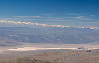 View of Panamint Valley from Bennett Peak in the Panamint Range, with the snow-capped Sierra Nevada on the horizon.