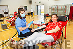 Irish Blood Transfusion Clinic: Liz Quinn, Listowel  with nurse Laura Feehan pictured giving blood at the IBT clinic i in Colaiste Ide agus Josef, Abbeyfeale on Thursday evening last.