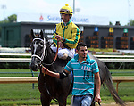 June 21, 2014:  Two year old filly Promise Me Silver and jockey Robby Albarado win the six furlong Debutante Stakes at Churchill Downs.  Owner Robert G. Luttrell, trainer Bret Calhoun. ©Mary M. Meek/ESW/CSM