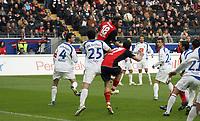 Kopfball Ioannis Amanatidis (Eintracht)<br /> Eintracht Frankfurt vs. VfL Bochum, Commerzbank Arena<br /> *** Local Caption *** Foto ist honorarpflichtig! zzgl. gesetzl. MwSt. Auf Anfrage in hoeherer Qualitaet/Aufloesung. Belegexemplar an: Marc Schueler, Am Ziegelfalltor 4, 64625 Bensheim, Tel. +49 (0) 6251 86 96 134, www.gameday-mediaservices.de. Email: marc.schueler@gameday-mediaservices.de, Bankverbindung: Volksbank Bergstrasse, Kto.: 151297, BLZ: 50960101