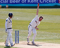 Yorkshire's Steven Patterson bowls during Kent CCC vs Yorkshire CCC, LV Insurance County Championship Group 3 Cricket at The Spitfire Ground on 16th April 2021