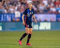 FRISCO, TX - MARCH 11: Christen Press #23 of the United States celebrates during a game between Japan and USWNT at Toyota Stadium on March 11, 2020 in Frisco, Texas.