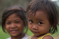 Children at Bayon Temple Cambodia