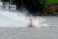 Frame 22: 300-P comes together with 911-Q, turns away and then is ejected from the boat.   (Outboard Hydroplanes)