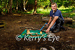Diarmuid Griffin od Dunloe, Beaufort of  Forest School Leader training and Kerry Walker is facilitating this school at the Nature Hub in Beaufort. It for becoming Forest School Leaders and giving forest school sessions to kids.