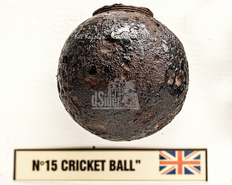 British WWI Cricket Ball Grenade.