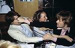 GERARDO AMATO CON URSULA ANDRESS E HELMUT BERGER  LITE AL RISTORANTE GRATICOLA ROMA 1978