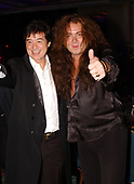 FORT LAUDERDALE FL - MAY 08: Jimmy Page and Yngwie Malmsteen attend the Brazilian children's charity event held at the Fort Lauderdale Marriott on May 8, 2002 in Fort Lauderdale, Florida. : Credit Larry Marano © 2002