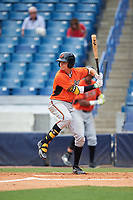 Josh Lowe (19) of Pope High School in Marietta, Georgia playing for the Baltimore Orioles scout team during the East Coast Pro Showcase on July 30, 2015 at George M. Steinbrenner Field in Tampa, Florida.  (Mike Janes/Four Seam Images)