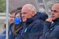 head coach Guido Brepoels of KRC Genk pictured during a female soccer game between Sporting Charleroi and Eendracht Aalst on the 8th matchday in play off 2 of the 2020 - 2021 season of Belgian Scooore Womens Super League , tuesday 18 th of May 2021 in Marcinelle , Belgium . PHOTO SPORTPIX.BE | SPP | STIJN AUDOOREN