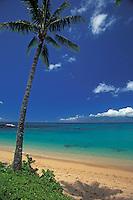A beautiful day at Napili Bay, Maui, Hawaii, USA. Molokai in the distance.