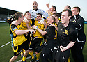 :: NEWS OF THE FINAL RESULT AT BRECHIN FINALLY REACHES THE LIVINGSTON PLAYERS AND THEY CAN START TO CELEBRATE WINNING THE SECOND DIVISION ::